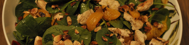 Chicken and Spinach Salad with Mandarin Oranges