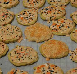 Genesee Country Village and Museum Double Pumpkin Cut-out Cookies for Halloween.