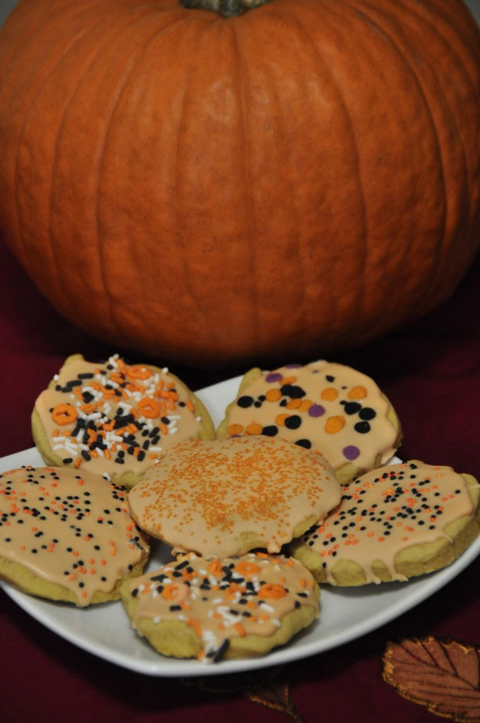Genesee Country Village and Museum Double Pumpkin Cut-out Cookies Recipe for Halloween.