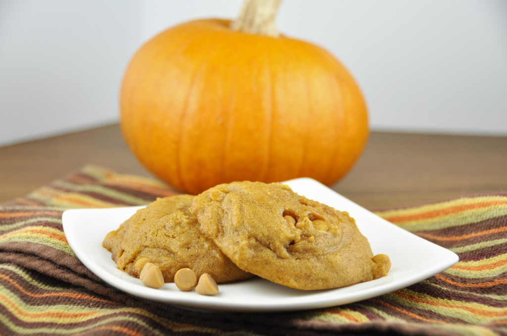 Pumpkin Butterscotch Cookies Recipe. Best fall cookie! The texture is cake-like and soft.