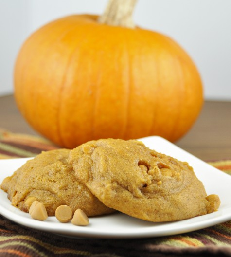 Pumpkin Butterscotch Cookies. Best fall cookie! The texture is cake-like and soft.