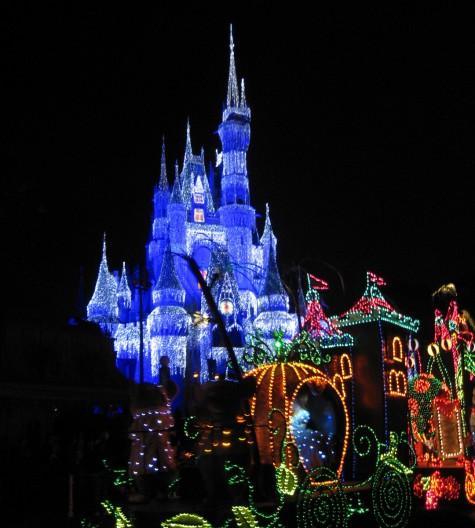 Cinderella and the castle in the Magic Kingdom Parade