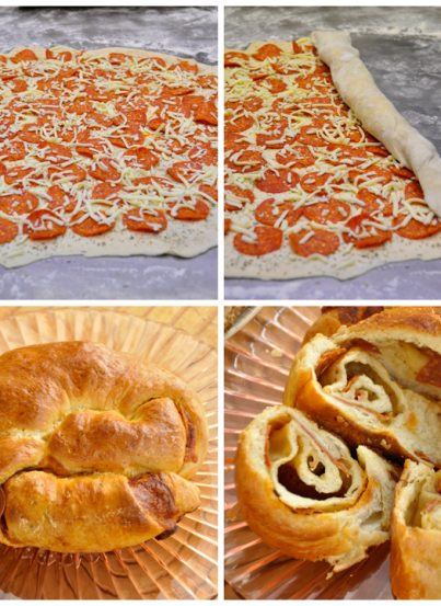 Pepperoni Pizza Bread Appetizer Recipe www.wishesndishes.com