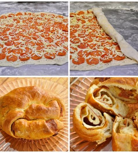 Pepperoni Pizza Bread Appetizer Recipe www.wishesndishes.com