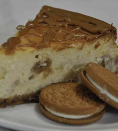 Ginger-0 Cheesecake with Biscoff Spread