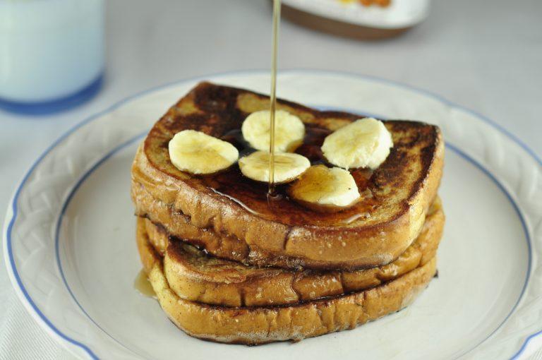 Banana and Nutella Stuffed French Toast Breakfast (3)