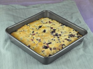This easy recipe for Buttermilk-Blueberry Breakfast Cake is an amazing way to start the morning! It is super moist, can double as a dessert, and is loaded with fresh blueberries.