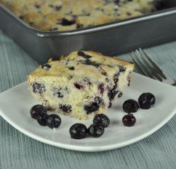 Buttermilk Blueberry Breakfast Cake with Lemon Flavoring