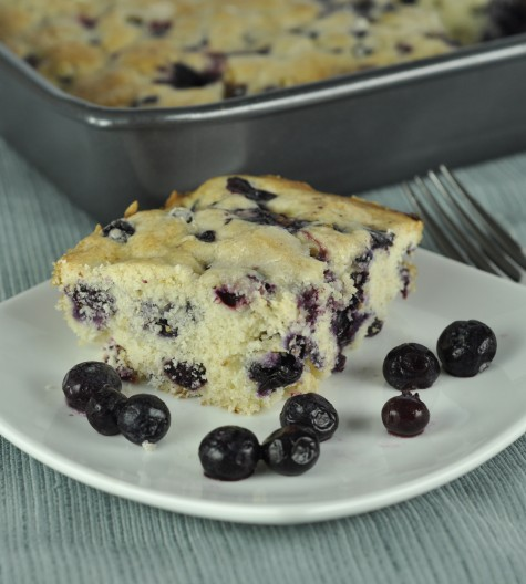 Buttermilk Blueberry Breakfast Cake with Lemon Flavoring