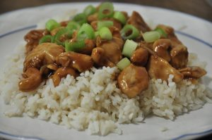This Cashew Chicken recipe tastes just like take-out, but way better! Silky, light flavored sauce and creamy, soft crunch of cashews pair amazingly with the tender chicken pieces.