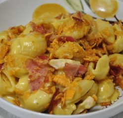 Cheesy Cheez-It Bacon Macaroni & Cheese