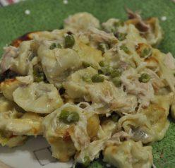 Chicken Tortellini Bake with Peas
