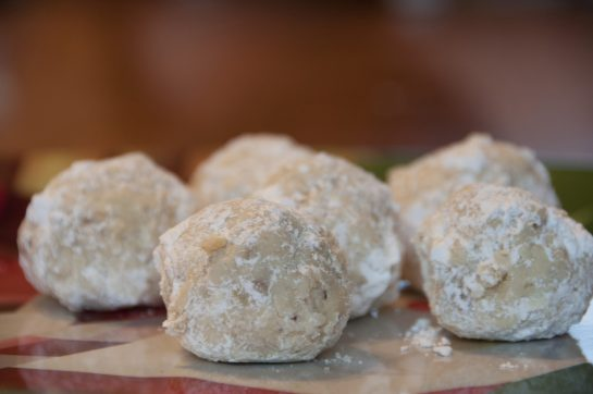 "Easy Walnut Snowball Cookies, or ""Mexican Wedding Cookies"", are a delicious nutty holiday dessert recipe for a crowd! These are the perfect Christmas cookie exchange idea!"
