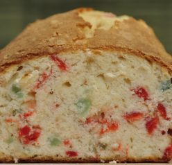 Festive Christmas Cherry Pound Cake Loaf
