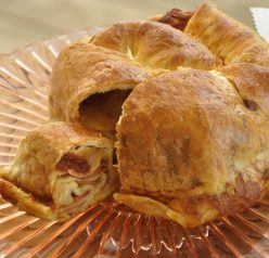 Pepperoni Pizza Bread Recipe made at Russo's Clubhouse Pizza in Greece, New York. They have the freshest ingredients and this was delicious! It's a secret family recipe that I decided to share with everyone. This is perfect for an appetizer party or something to pass at any holiday party.