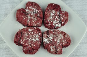 Red Velvet Crinkle Cookies recipe are the perfect red velvet dessert for Valentine's Day!