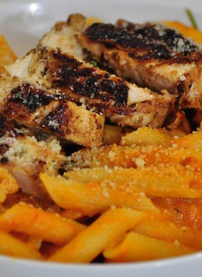 Wegmans Pasta with Vodka Blush Sauce & Chicken