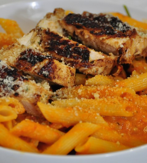 Wegmans Pasta with Vodka Blush Sauce & Chicken