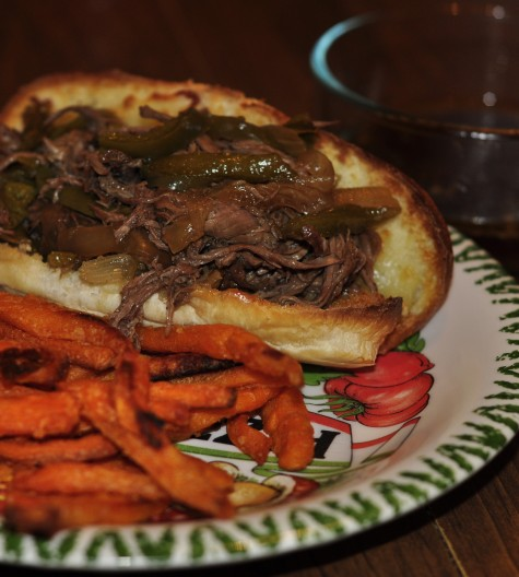 Crock Pot Slow Cooker French Dip Sandwich recipe that is quick and easy for a weeknight meal.