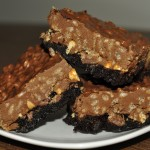 Peanut Butter Cup Crunch Brownie Bars