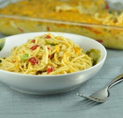 Pioneer Woman Chicken Spaghetti with Peppers and Pimentos