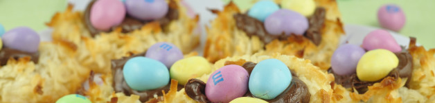 Coconut Macaroon Nutella Easter Nests for Easter or Spring