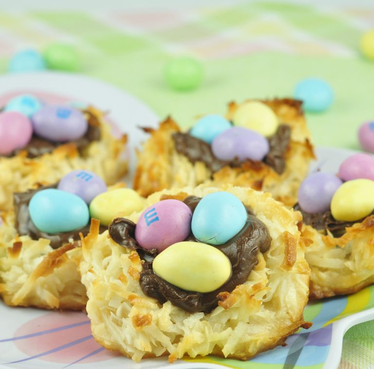 Coconut Macaroon Nutella Easter Nests