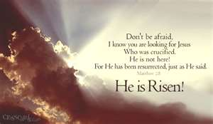 He is Risen Easter Bible Verse