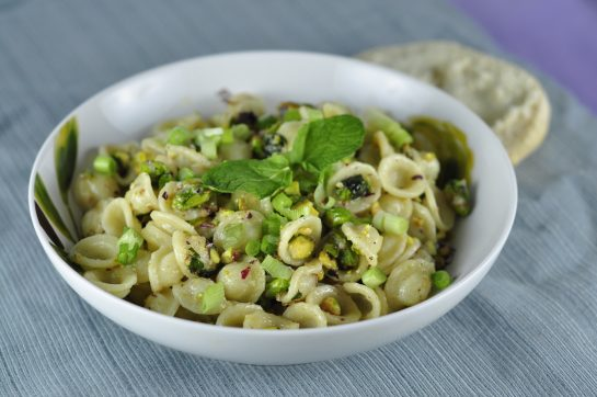 My easy Pistachio Pasta recipe is so creamy and full of flavor. This simple pasta dish would be a great recipe to add to your arsenal of easy vegetarian, plant-based meals!