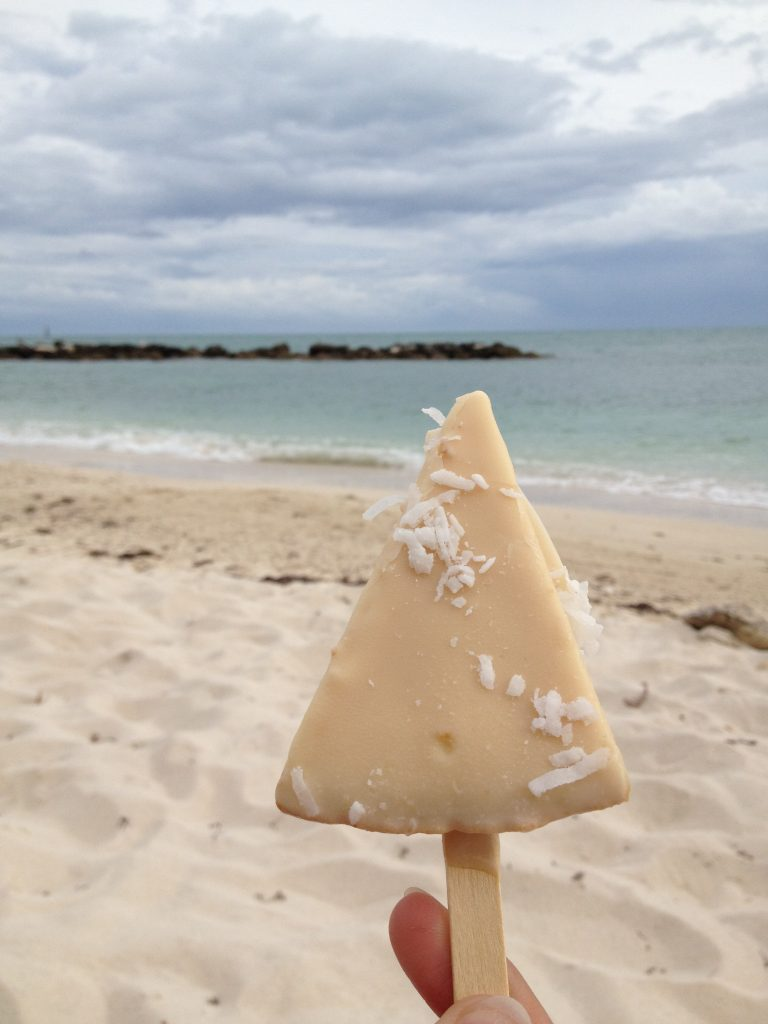 White Chocolate Key Lime Pie in Key West on the Beach