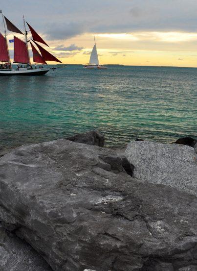 Key West Beach at Sunset