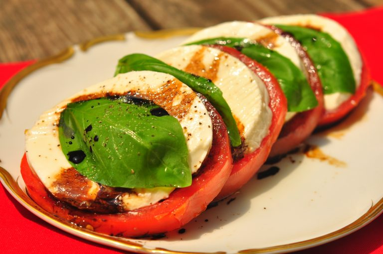 Caprese Salad with Balsamic Reduction -