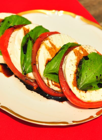 Caprese Salad with Balsamic Reduction