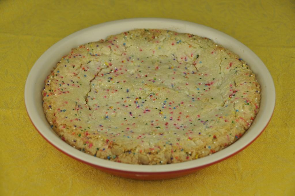 White Chocolate Confetti Cookie Pie