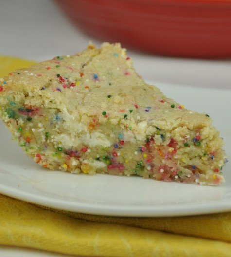 White Chocolate Confetti Cookie Pie