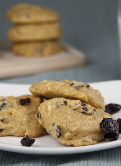Honeyed Banana Berry Cake Cookies. Healthier than using oil or butter!