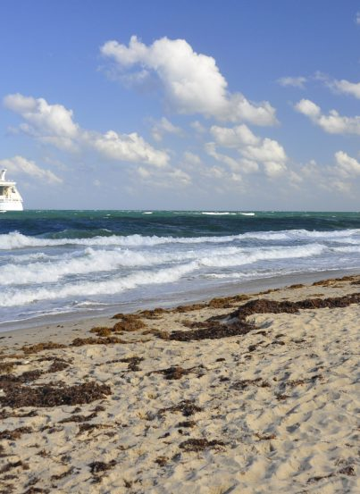 """Ft. Lauderdale beach waving """"goodbye"""" to Allure of the Seas"""
