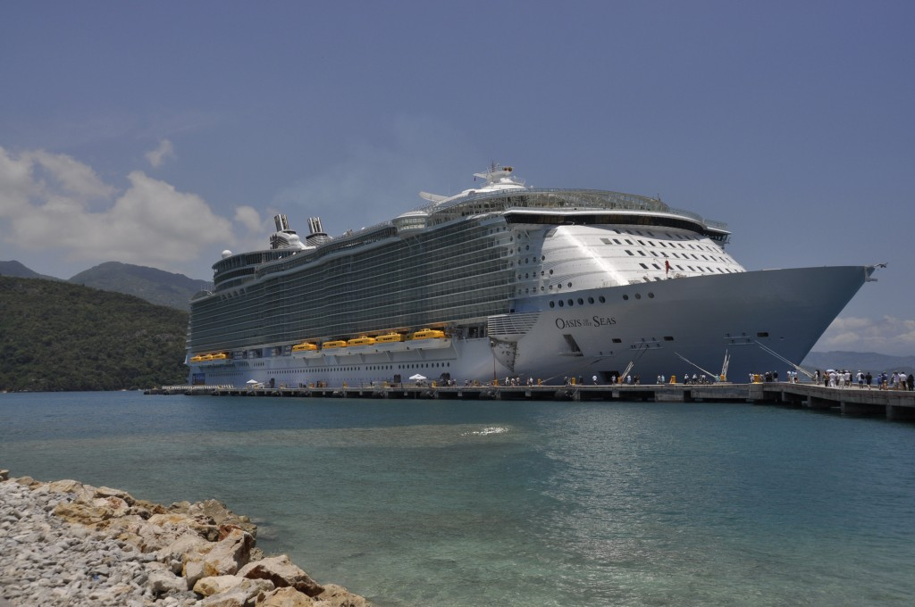 Royal Caribbean Oasis of the Seas Review. The ship docked in Labadee, Haiti.