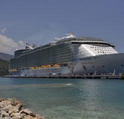 Royal Caribbean Oasis of the Seas docked in Labadee, Haiti