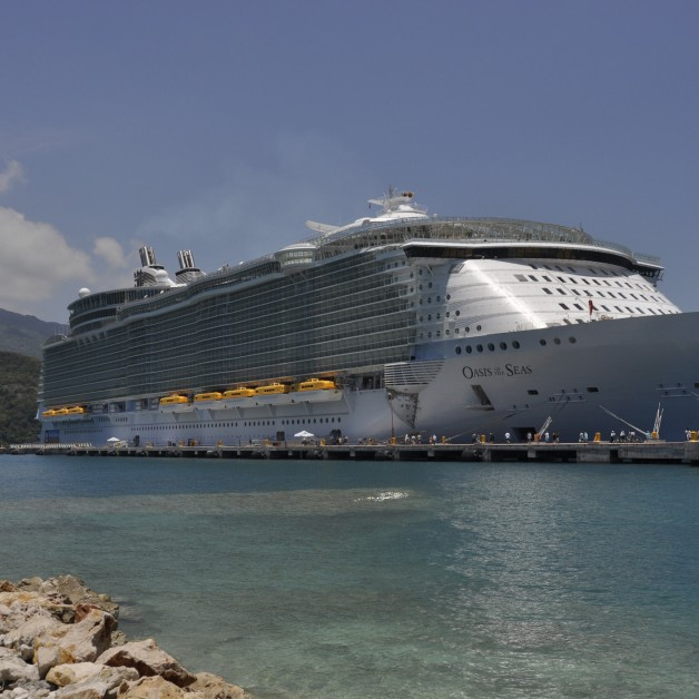 Royal Caribbean Oasis of the Seas docked in Labadee, Haiti