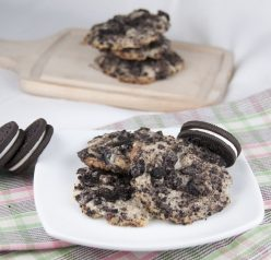 Oreo Cheesecake Cookies. No eggs in this cookie recipe.