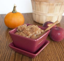 Crock Pot Cinnamon Applesauce. Made in the slow cooker. Easy!