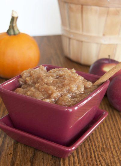 Crock Pot Cinnamon Applesauce. Made in the slow cooker. Easy!