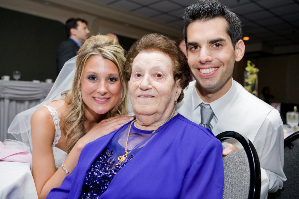 Grandma with us at our wedding reception at Burgundy Basin Inn, Rochester NY.