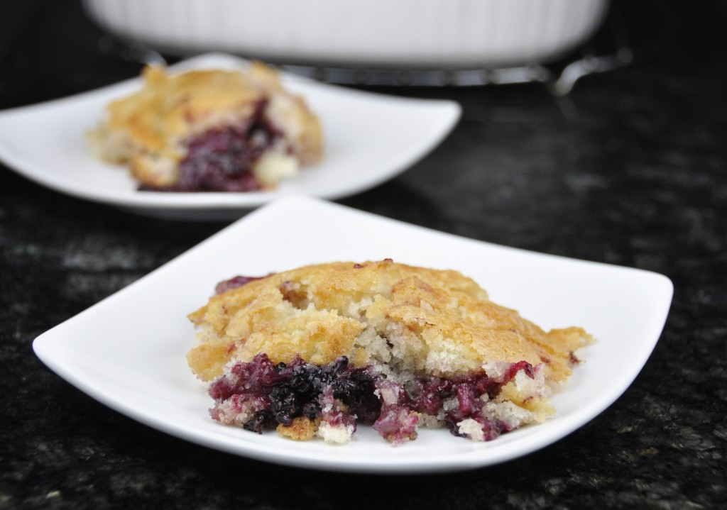 Blackberry Cobbler from Pioneer Woman's recipe.  Easy and delicious!