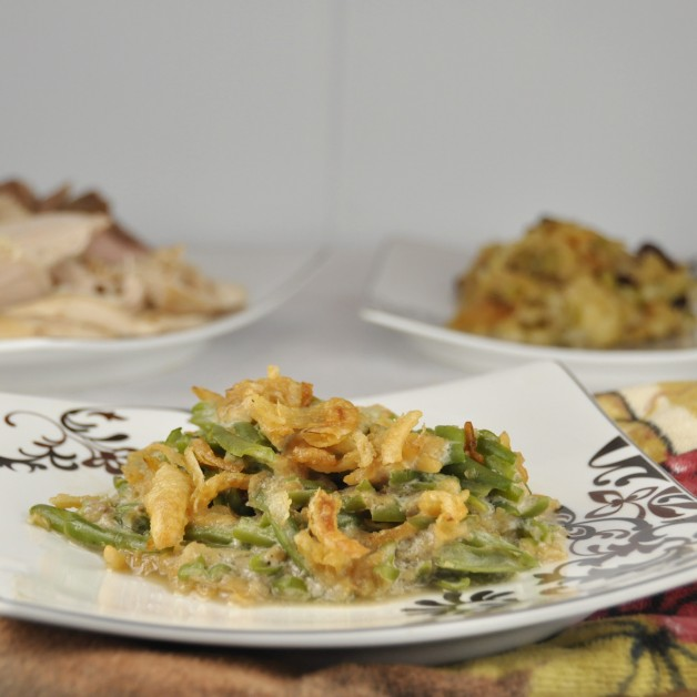 Green Bean Casserole. Perfect for Thanksgiving or Christmas!