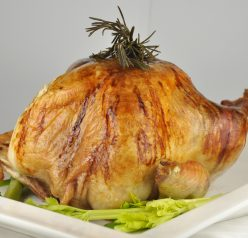 Thanksgiving Turkey Recipe stuffed with rosemary, sage, apple, onion and cinnamon stick. Great for any holiday!