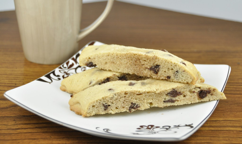 Chocolate Chip Almond Mandel Bread.  A Jewish tradition for passover that's similar to biscotti!