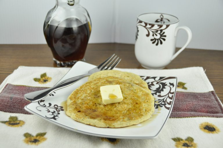 Banana Pancakes.  Fluffy, light, full of banana chunks.