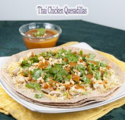 Thai Chicken Quesadillas recipe combine the flavors of Mexican and Thai cuisine into one amazing dinner, lunch, or appetizer that is packed full of flavor!